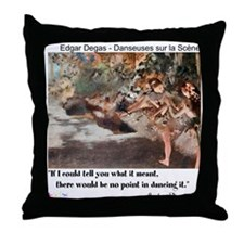 Meaning of Dance Throw Pillow