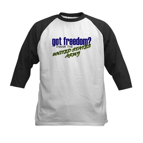 Got Freedom? US Army Kids Baseball Jersey