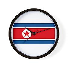 North Korea Flag Wall Clock