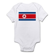 North Korea Flag Infant Creeper