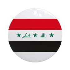 Iraq Flag Ornament (Round)