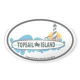 Topsail Island NC - Surf Design Decal