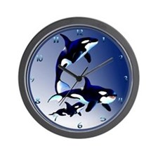 Killer Whale Family Wall Clock