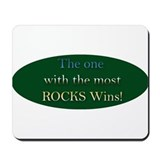 Most Rocks Wins Mousepad