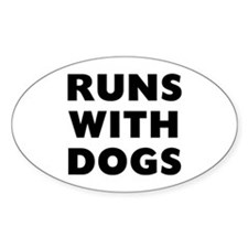 Runs Dogs Decal