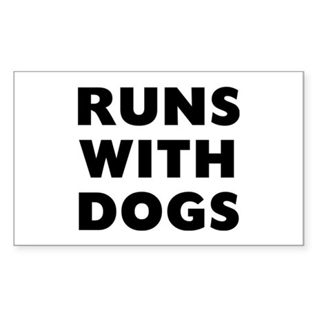 Runs Dogs Sticker (Rectangle)