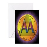 GOLD/PURPLE AA Greeting Cards (Pk of 10)