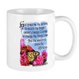 FLOWERED SERENITY PRAYER Small Mugs