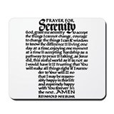 FULL SERENITY PRAYER Mousepad