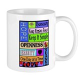 COLORED BLOCK SLOGANS Small Mug