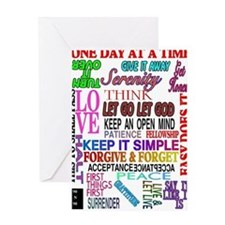 12 STEP SLOGANS IN COLOR Greeting Card