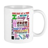 12 STEP SLOGANS IN COLOR Small Mug