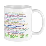 COLERED 12 STEP SAYINGS Small Mugs