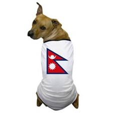 Nepal Flag Dog T-Shirt