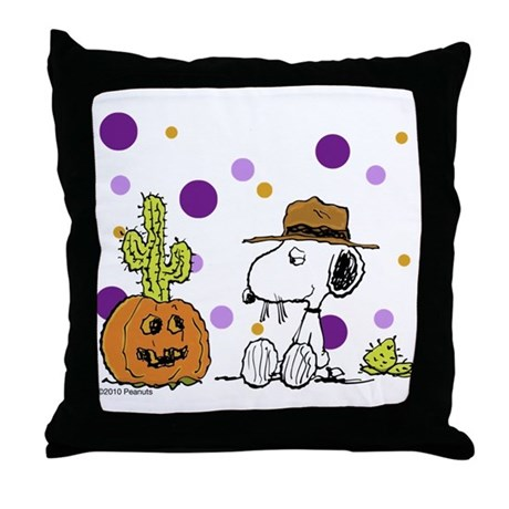 Spikey Halloween Throw Pillow