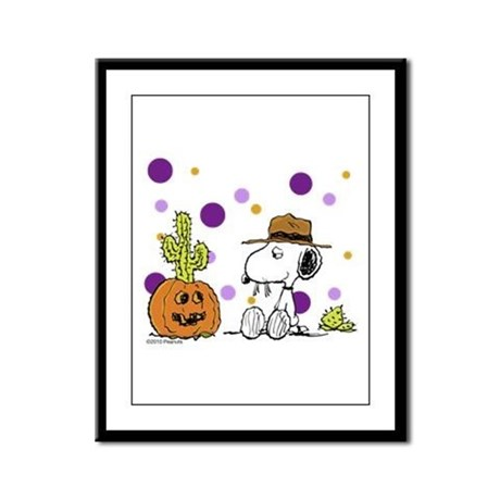 Spikey Halloween Framed Panel Print