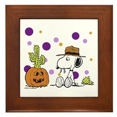 Spikey Halloween Framed Tile