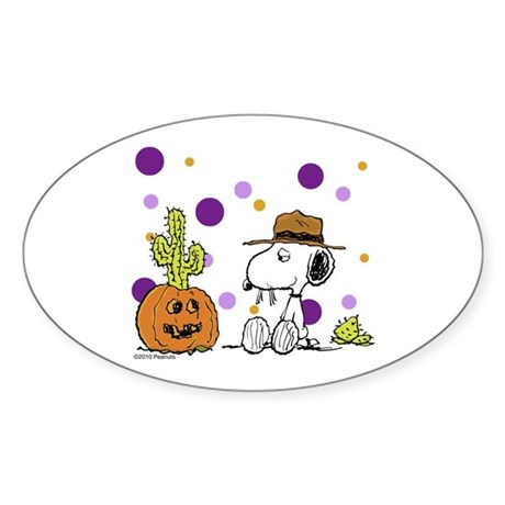 Spikey Halloween Sticker (Oval)