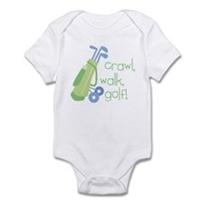 Crawl, Walk, Golf Infant Bodysuit