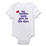 My favorite uncle Infant Bodysuit