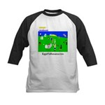 Eggs vs Humans Kids Baseball Jersey