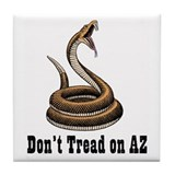 Don't Tread on AZ Tile Coaster
