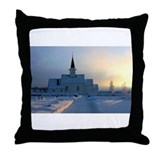 Norway/Sunrise Throw Pillow