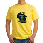 ILY Wisconsin Yellow T-Shirt