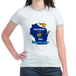 ILY Wisconsin Jr. Ringer T-Shirt