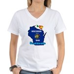 ILY Wisconsin Women's V-Neck T-Shirt