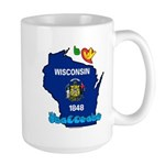 ILY Wisconsin Large Mug