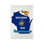 ILY Wisconsin Rectangle Magnet