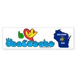 ILY Wisconsin Sticker (Bumper 10 pk)
