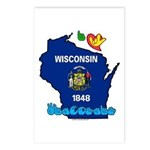 ILY Wisconsin Postcards (Package of 8)