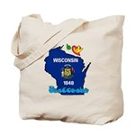ILY Wisconsin Tote Bag