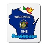 ILY Wisconsin Mousepad