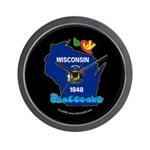 ILY Wisconsin Wall Clock