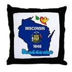 ILY Wisconsin Throw Pillow