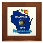 ILY Wisconsin Framed Tile