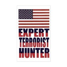 USA-EXPERT TERRORIST HUNTER Rectangle Decal