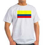 Colombia Colombian Blank Flag Ash Grey T-Shirt
