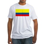 Colombia Colombian Blank Flag Fitted T-Shirt