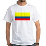 Colombia Colombian Blank Flag White T-Shirt