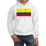 Colombia Colombian Blank Flag Hooded Sweatshirt