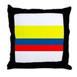Colombia Colombian Blank Flag Throw Pillow