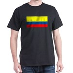 Colombia Colombian Blank Flag Black T-Shirt