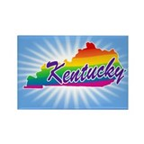 Gay Pride Rainbow Kentucky Rectangle Magnet