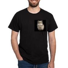 Wolf Portrait Apparel Black T-Shirt