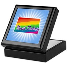 Gay Pride Rainbow North Dakota Keepsake Box