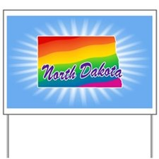 Gay Pride Rainbow North Dakota Yard Sign